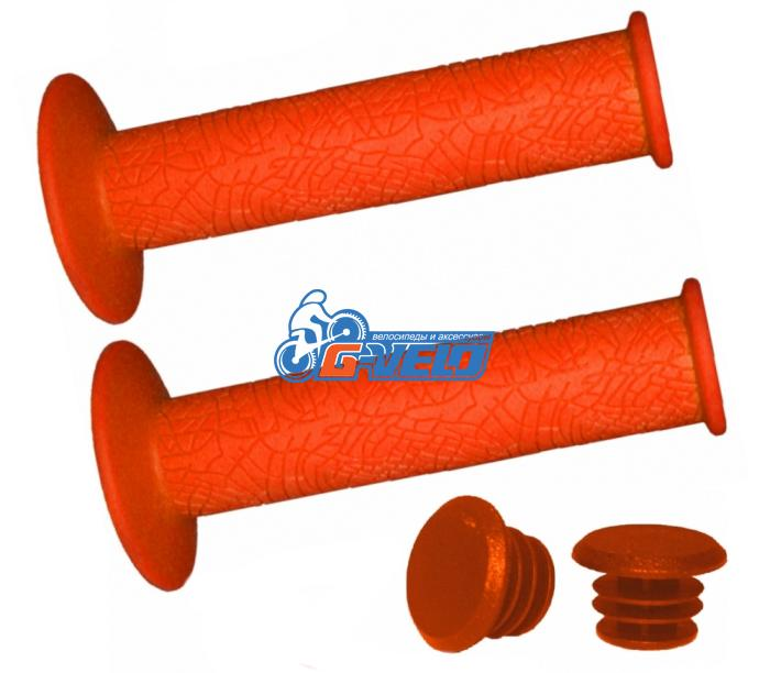 Грипсы Vinca Sport, 120 мм, оранжевые, H-G 60 orange