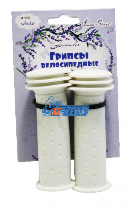 Vinca Sport, Грипсы детские, 102мм, белые, H-G 96 lavender