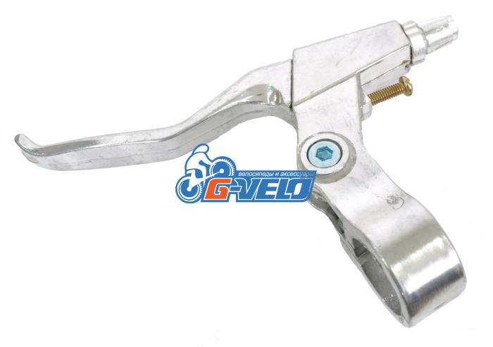 Тормозная ручка левая GVELO серебристая, 2,5 пальца, алюминиевая