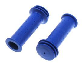 Грипсы TRIX для детских велосипедов 102 мм, упор, синие, HL-G96 blue