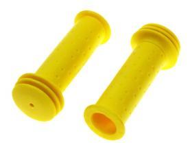 Грипсы TRIX для детских велосипедов 102 мм, упор, желтые, HL-G96 yellow