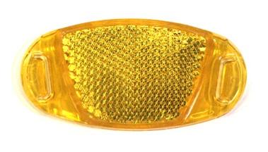 Отражатель на спицы, пластик, желтый, HL-R12