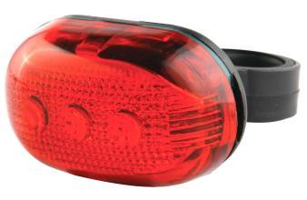 Фонарь задний, 5 диодов, 3 режима, красно-чёрный, JY-603-T