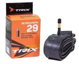 Камера 29 TRIX 29x1,75-2,10 AV автониппель, Schrader 48мм, бутил