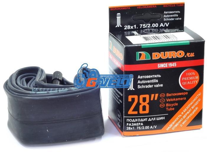 Камера 28 DURO 28*1,75/2.00 автониппель AV, бутил