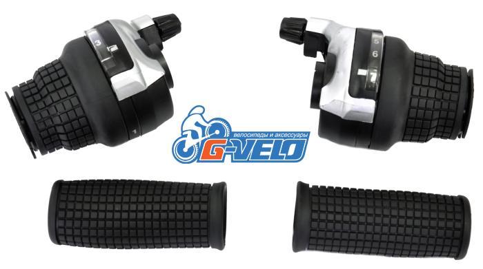 Vinca Sport, Шифтеры (совместимы с Shimano), левая-3 ск.,правая-7 ск.,с тросиком KDSG 51-3SI/7SI