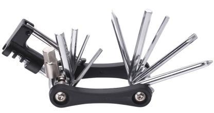 Ключи шестигранные в наборе 2/2.5/3/4/5/6/8 мм с отверткой, выжимкой цепи, KENLI, KL-9835B