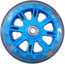 Колесо для самокатов, 116 мм, Vinca Sport, ПВХ, ABEC 7, светящееся, голубое, SC 01-1 LB