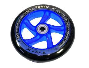 Колесо для самокатов, 125 мм, подшипники ABEC 7, цвет: синий