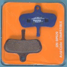 Колодки диск UNEX Semi-Metallic для Avid Code с пружинкой