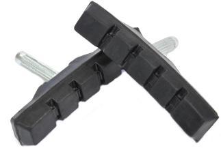 Колодки V-brake шлицевые, комплект 2шт