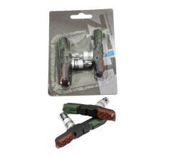 Колодки V-brake ZEIT Z-629 72 мм, черно-красно-зеленые, всепогодные