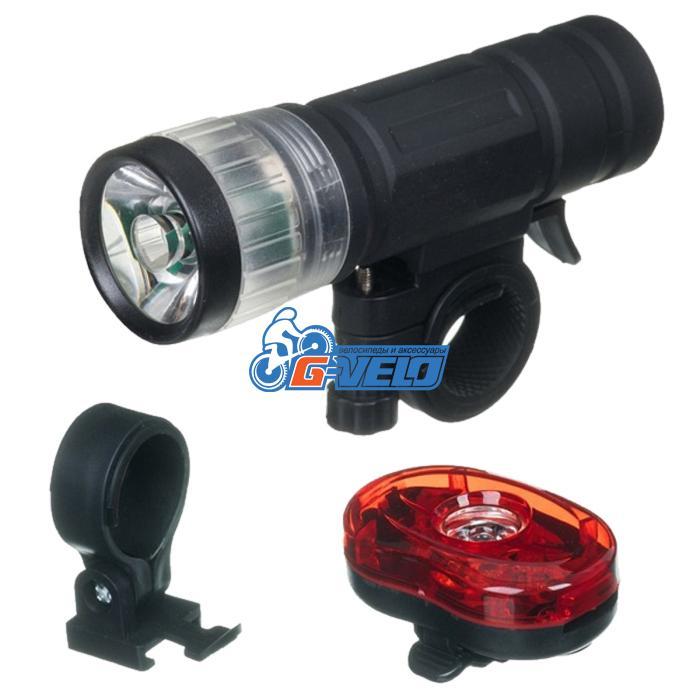 Комплект фонарей STG, BC-ST9041W передний+задний