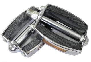 Педали резинометаллические, JK 3585 серебро