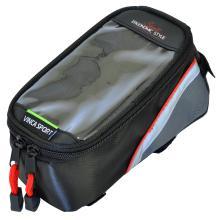 Vinca Sport, Сумка на раму, отделение для телефона, 195х100х100мм, красный кант FB 07L black/red
