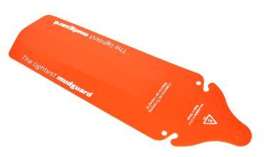 Крыло заднее MudGuard оранжевое, на седло