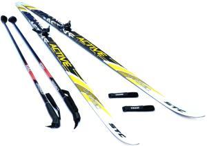 Лыжный комплект STC Step, NN75, палки, липучки