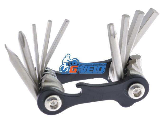 Ключи шестигранные в наборе 2/2.5/3/4/5/6  мм с отверткой MT-101B