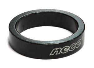 "Проставочное кольцо NECO 1 1/8"", 8 мм, черное, AS 3508 BK"