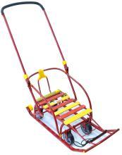 Санки Nikki 3 с колесами, красный, N3K