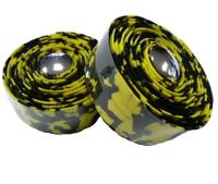 Обмотка руля VELO VLT-001-20 черный/желтый мрамор с гелевой лентой