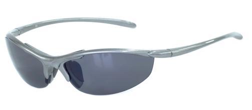 Очки спортивные, арт.730846MB-B, оправа -серый металлик, линзы серые UV400, запасные линзы: коричнев