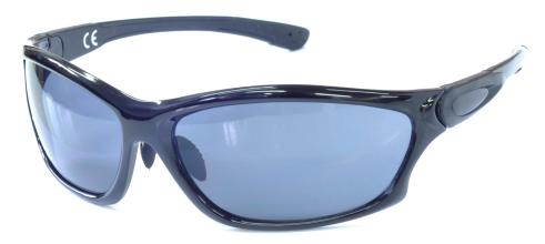 Очки спортивные, арт.739979MB-A, оправа черная, линзы серые UV400, запасные линзы: коричневые UV400,