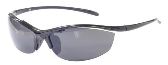 Очки спортивные, арт.730846MB-A, оправа черная, линзы серые UV400, запасные линзы: коричневые UV400,