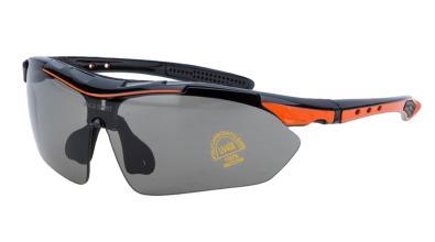 Очки велосипедные Vinca Sport, c серыми линзами, VG 818 orange/black
