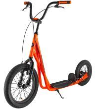 Самокат внедорожный NOVATRACK CITY LINE, max 120кг, неоновый оранжевый