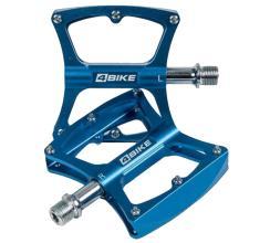 Педали 4BIKE K340 синие, 104х98х18 мм, 2 пром. подшипника, 1 втулка скольжения, ось Cr-mo, 12 шипов