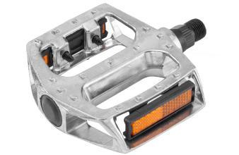 Педали HENGFENG, PS17, 99*100 мм, алюминиевые, серебристые