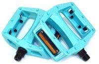 """Педали Z-Plus Z-0911, Paint, пластик бирюзовый, CrMo ось 9/16"""", 90x95x28mm, 127g"""