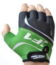 Велоперчатки Vinca Sport F1 зеленые, VG 924 green