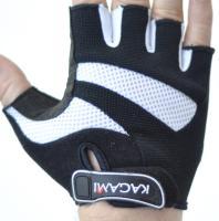 Велоперчатки KAGAMI короткие пальцы, белый/черный, NZR