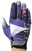 Велоперчатки KAGAMI полные пальцы, фиолет/черный