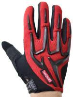 Велоперчатки VIRZ VS101 полные пальцы, красный