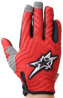 Велоперчатки VIRZ VS102 полные пальцы, красный