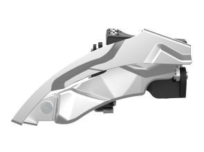 Передний переключатель SunRace M924, 9ск, 44/48Т, хомут 31.8мм (адаптер с 34,9), ун. тяга