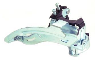 Передний переключатель AST 22-24T, 18 скоростей, 28,6мм ун.тяга, черн/хром.