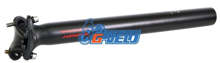 Подседельный штырь FORMAT KALLOY SP-358, черный, 31,6*300мм, красный лого