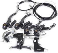 Полный комплект тормозов V-brake, Alhonga перед + зад, с торм. ручками, комфорт