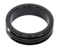 """Проставочное кольцо Neco 1 1/8"""", 10 мм, облегченное, черное, AS 3510R BK"""