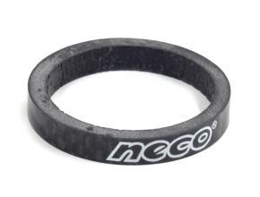 """Проставочное кольцо NECO 1 1/8"""", карбоновое, 5 мм, черное, CS3505 BK"""