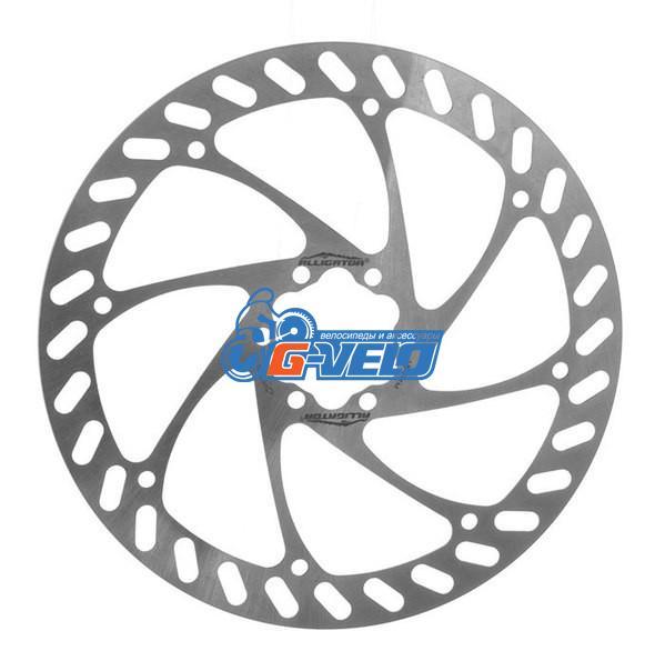 Ротор Alligator Pizza для дискового тормоза 180мм серебро
