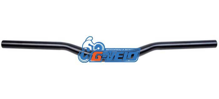 Руль STG L-02 31.8x22.2; W=580, H=35 алюминиевый черный