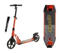 Самокат HOGGER AZTEC, оранжевый, колеса: перед 230 мм, зад 200 мм, 2020