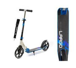 Самокат TRIX LARGO, Колеса: 2 х 200 мм, max 100 кг, алюминий, ABEC-7, черно-синий, SKL-037, 2020