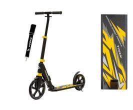 Самокат TRIX PIONEER, 250x230 мм, алюминий, max 100кг, передн. аморт. черно-желтый