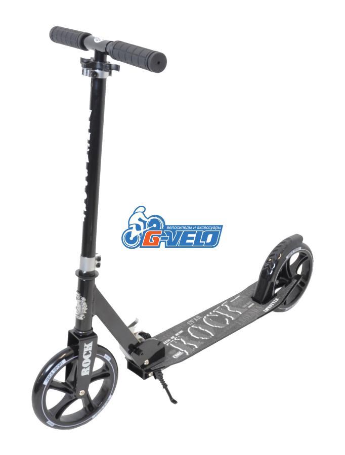 Самокат Vinca Sport, колеса 200мм, алюм/сталь, ABEC 9, черный VSP 10 Rock